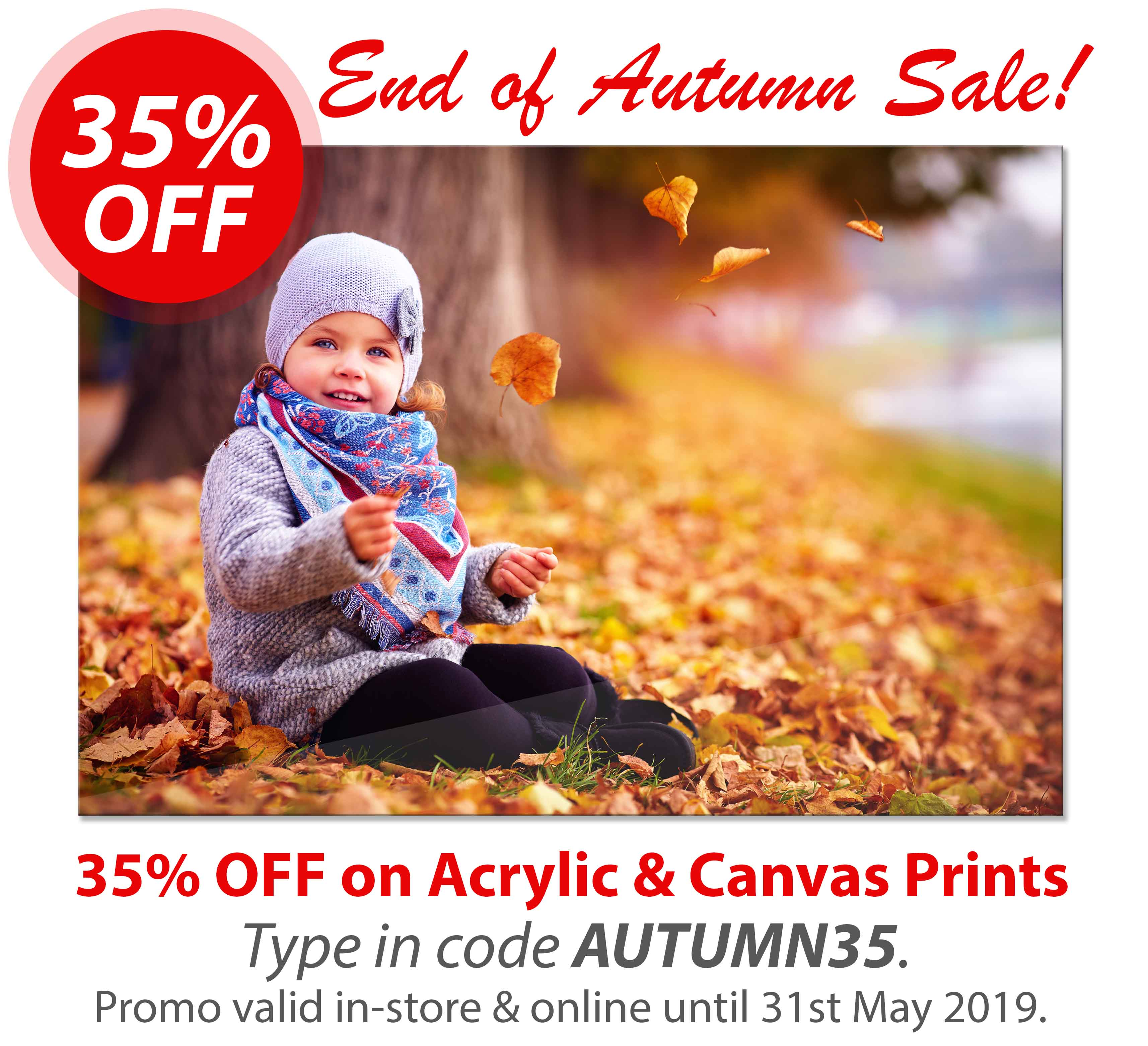 Deluxe Art End of Autumn Sale May15 Acrylic and Canvas Print