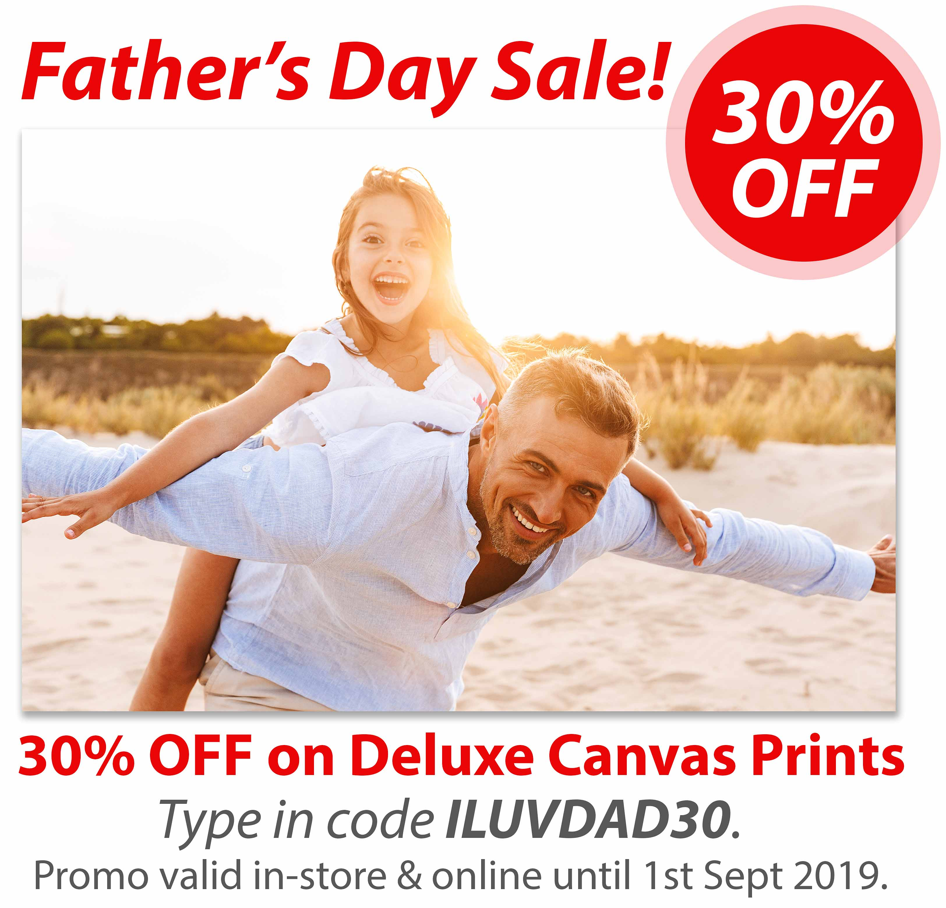 Deluxe Art FATHERs DAY SALE 2019 Canvas Print
