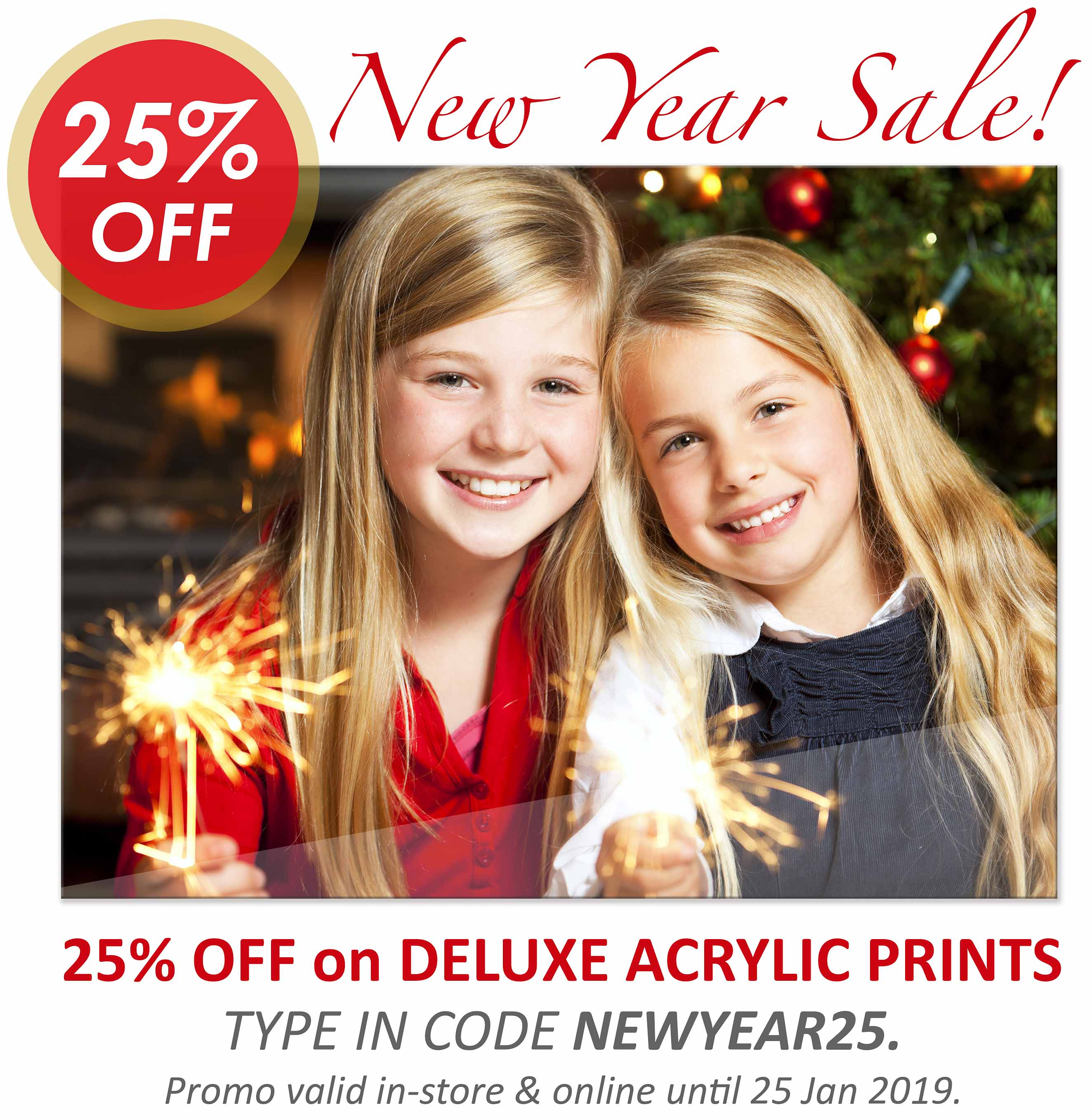 Deluxe Art New Year Sale 25 OFF Acrylic Printing 12Jan