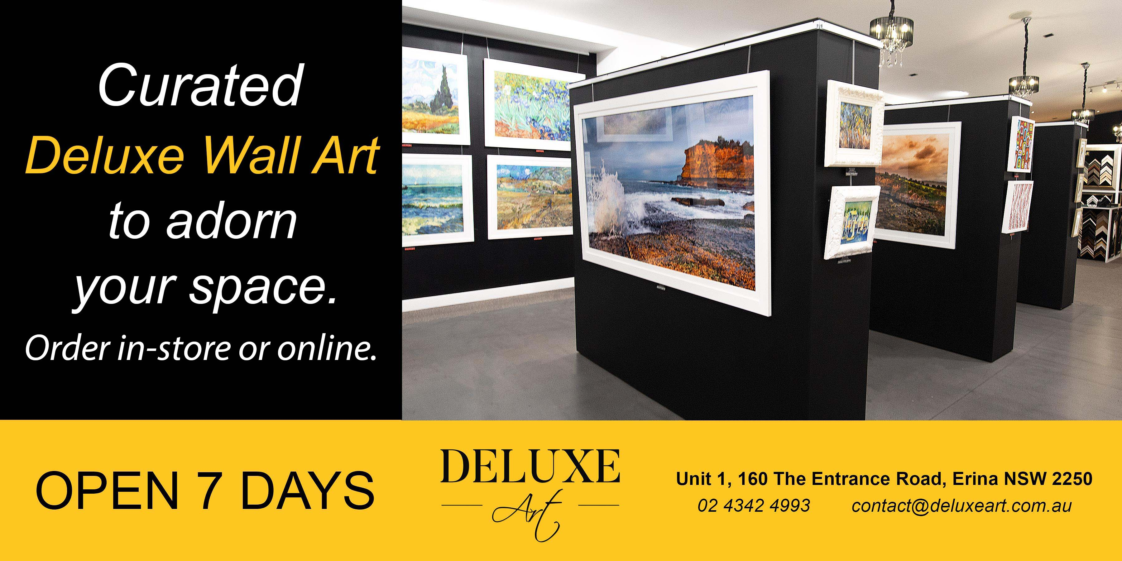 Deluxe Art Wall Art Gallery Central Coast June2020