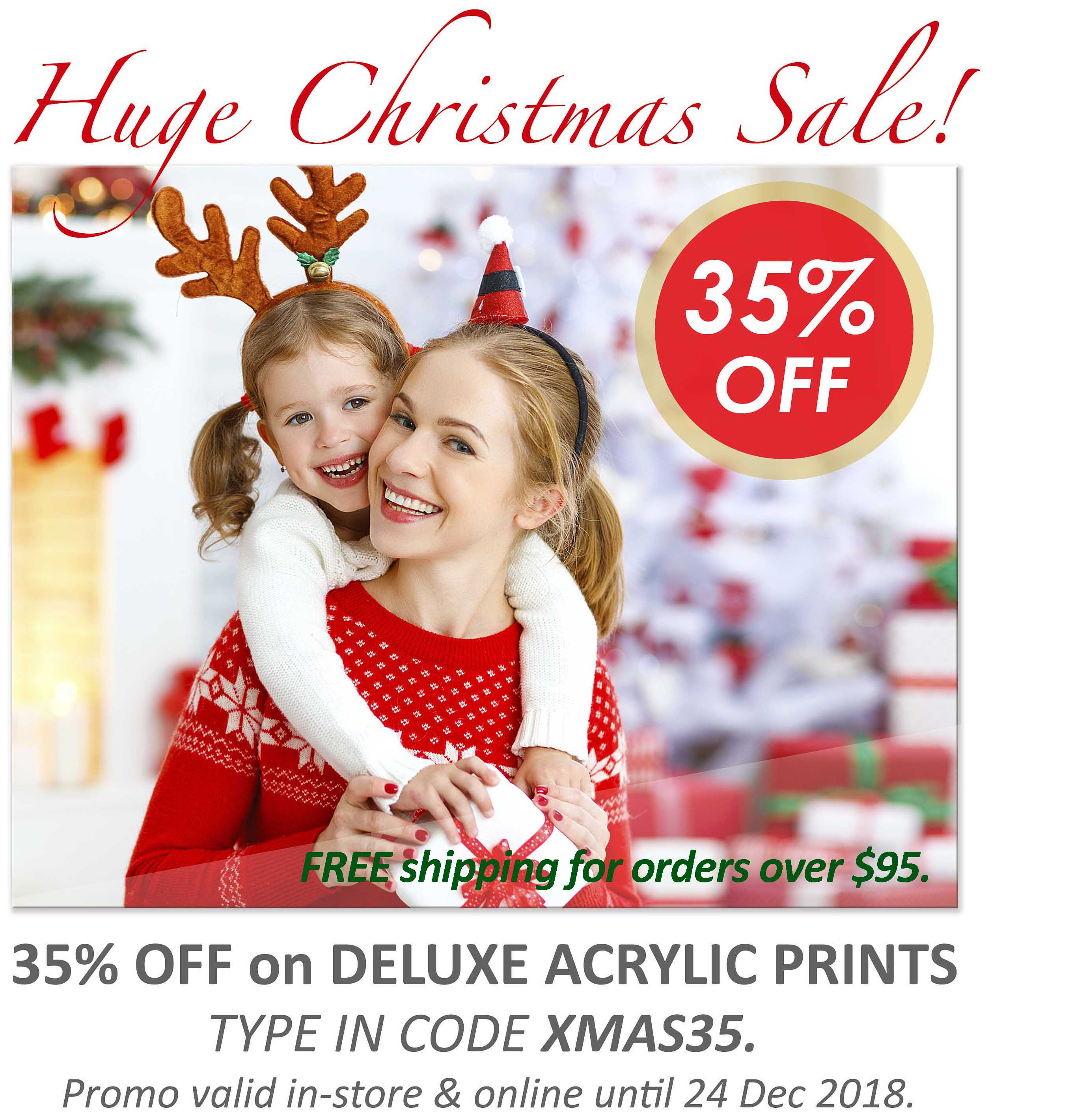 Deluxe Art Xmas Sale 35 OFF Acrylic Printing 24Nov FreeShipping