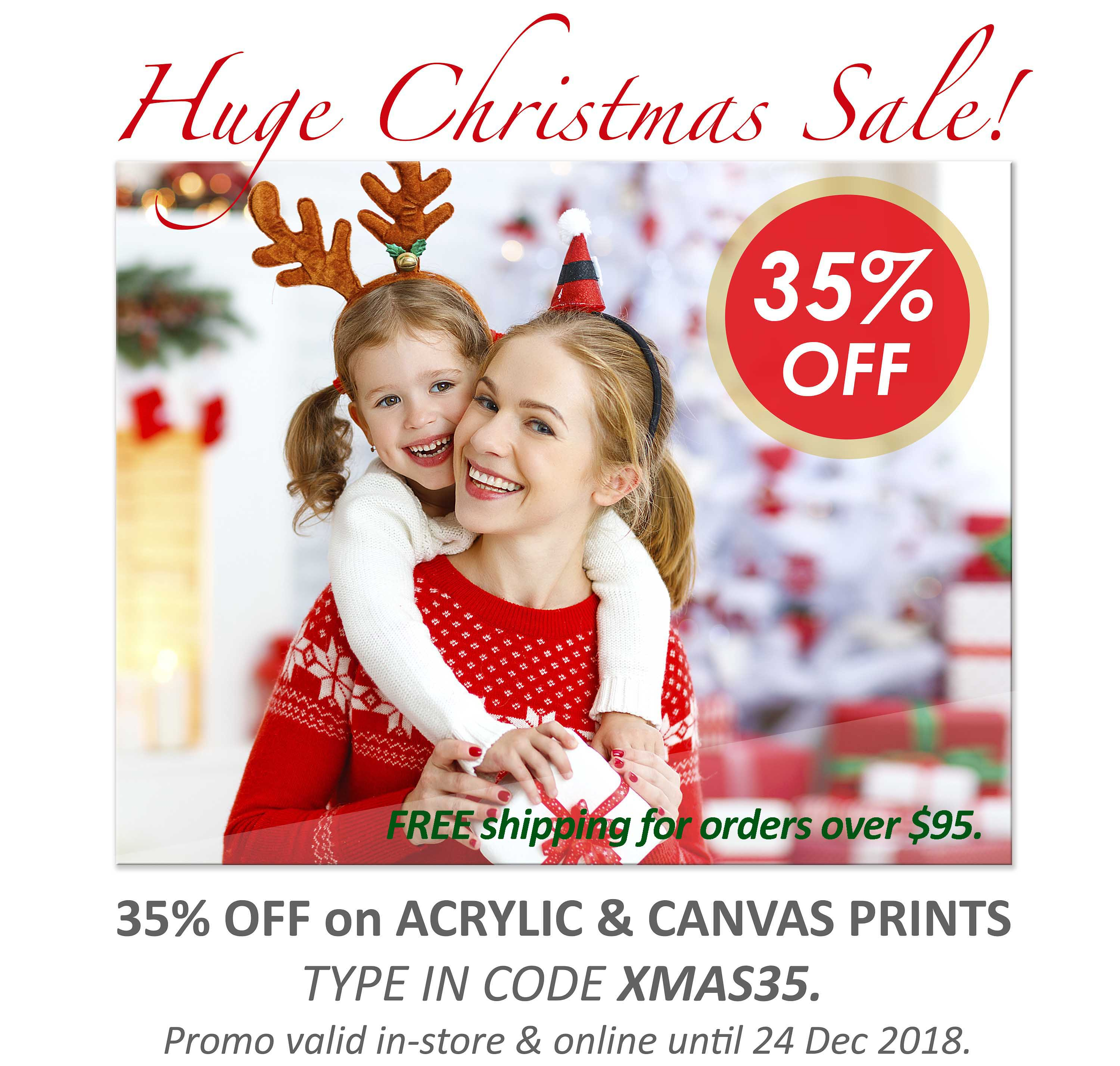 Deluxe Art Xmas Sale 35 OFF Acrylic Canvas Print 24Nov FreeShipping