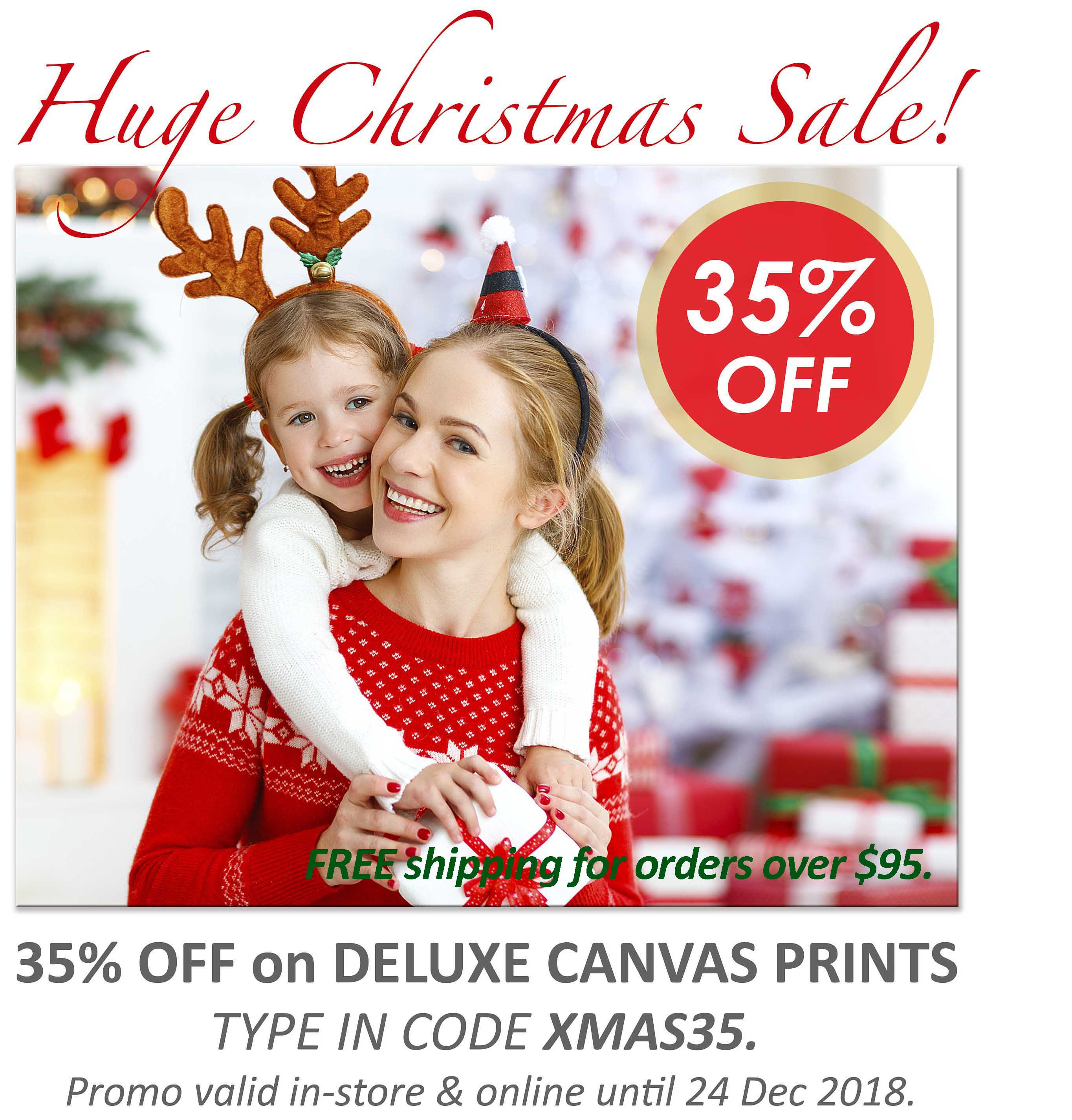 Deluxe Art Xmas Sale 35 OFF Canvas Printing 24Nov.v2 FreeShipping