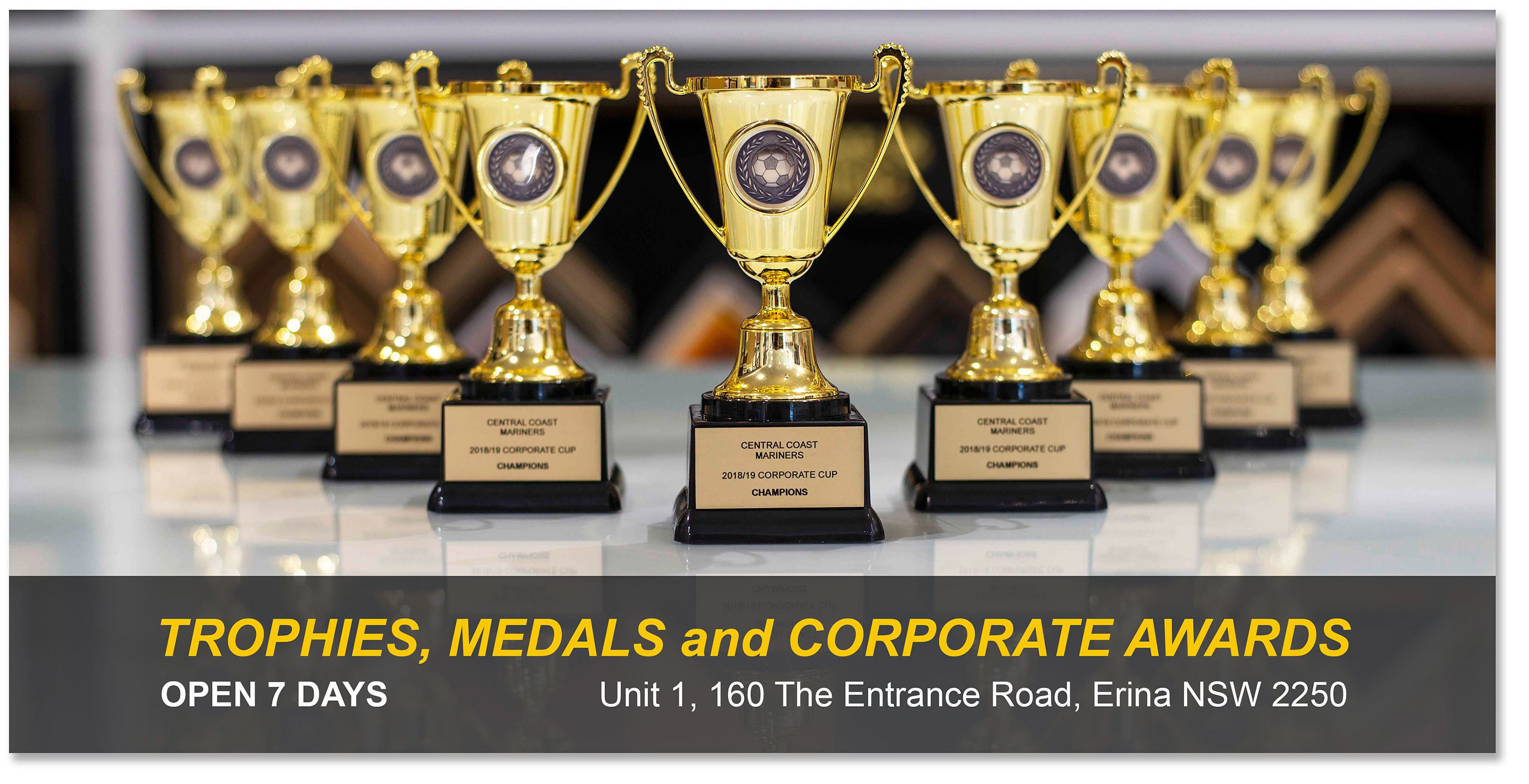 Trophies Medals Corporate Awards Central Coast